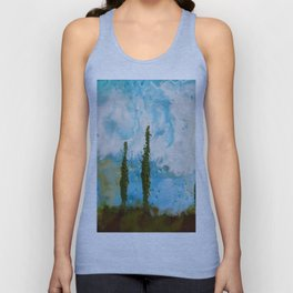 Tuscan Sunset original Encaustic wax painting by Seasons Kaz Sparks Unisex Tank Top