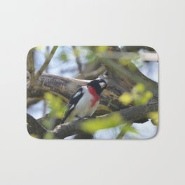 Rose Breasted Grossbeak Bath Mat