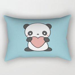 Kawaii Cute Panda With Heart Rectangular Pillow