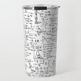 Physics Equations on Whiteboard Travel Mug