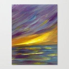 Wispy Sunset Seascape Canvas Print