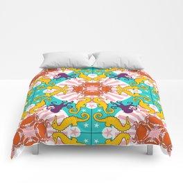 Kaleidoscopic Ocean Animals Comforters