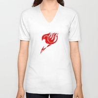 fairy tail V-neck T-shirts featuring Fairy Tail Segmented Logo by JoshBeck
