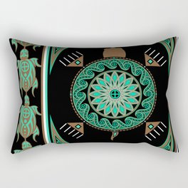 Green Turtle Rectangular Pillow