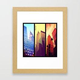Triple NYC Framed Art Print