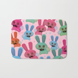 Cute Fluffy Bunnies Bath Mat