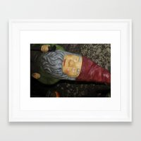 gnome Framed Art Prints featuring Gnome by alexarayy