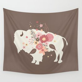 Floral Buffalo Wall Tapestry