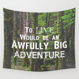 Peter Pan and Forrest Lands Wall Tapestry