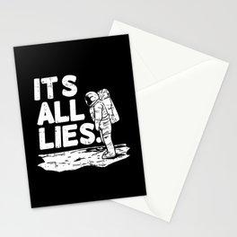 Moon Landing Conspiracy Theory Fake Illuminati Shirt & Gift Stationery Cards