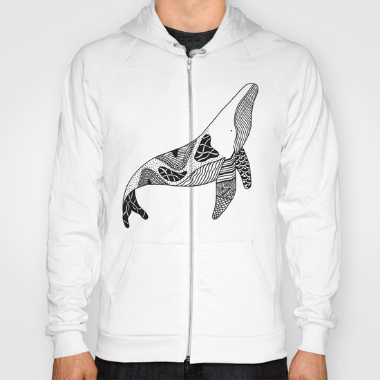 Patchwork Whale Hoody