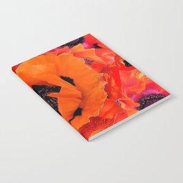 DECORATIVE ORANGE POPPY FLOWERS COMPOSITION Notebook