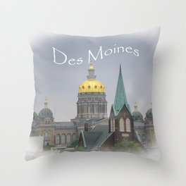 Des Moines Capitol Throw Pillow