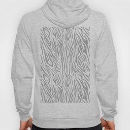 Modern gray white vector zebra animal print pattern Hoody