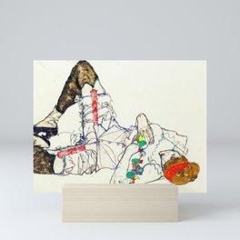 Egon Schiele - Woman lying on her back Mini Art Print