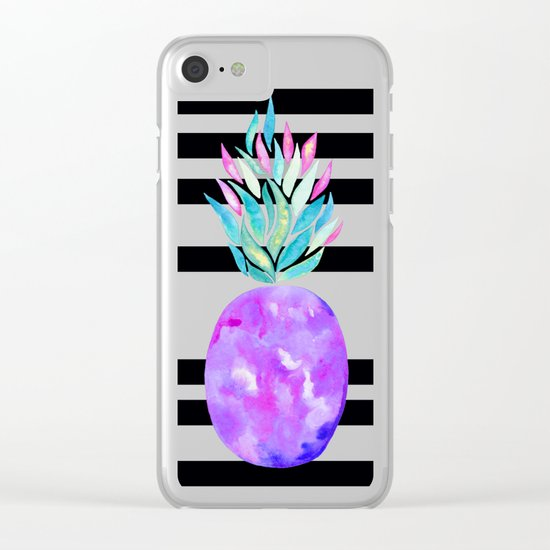 Pineapple à la mode Clear iPhone Case