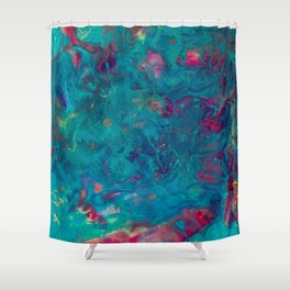 Colorful Chaos Resin Painting Shower Curtain