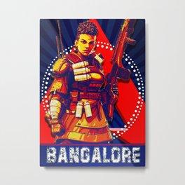 Bangalore Apex Legend Metal Print