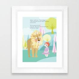 Aslan & Lucy Talking Framed Art Print