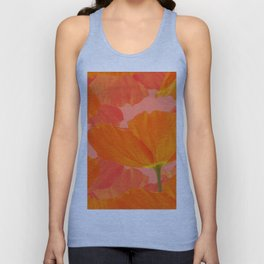 Beautiful Poppies Coral Color Background #decor #society6 #buyart Unisex Tank Top