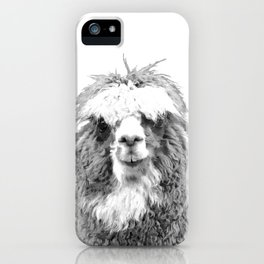 Black and White Alpaca iPhone Case