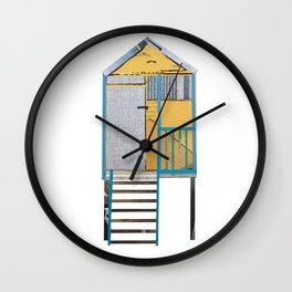 Norfolk Beach Hut Wall Clock