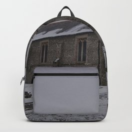 Dunkirk Church In Winter Backpack