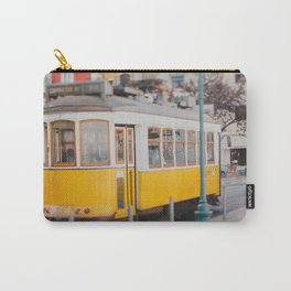 Yellow Tram in Lisbon Carry-All Pouch