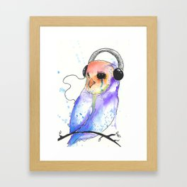 This music plays somewhere behind the eyes Framed Art Print
