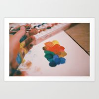 color stains Art Print