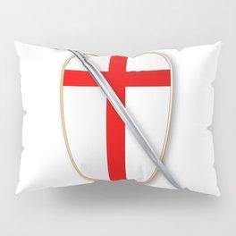 Crusaders Shield and Sword Pillow Sham