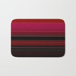 Vibrant Red Ombre Stripe Pattern Bath Mat