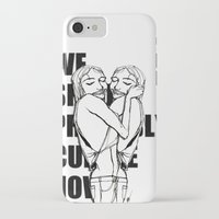 cuddle iPhone & iPod Cases featuring Cuddle by Natalie Sichko