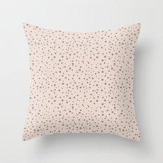 PolkaDots-Taupe on Peach Throw Pillow