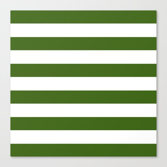 Simply Stripes in Jungle Green Canvas Print