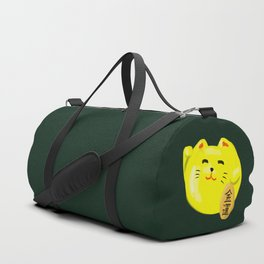 Neko Cat Yellow Duffle Bag