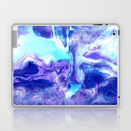 Swirling Marble in Aqua, Purple & Royal Blue Laptop & iPad Skin