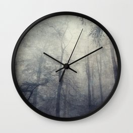 twistEd - foggy forest Wall Clock