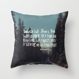 Road Trip Emerson Throw Pillow