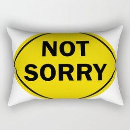 Not Sorry Street Sign Rectangular Pillow