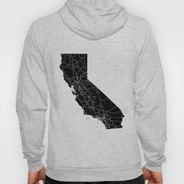 California Black Map Hoody