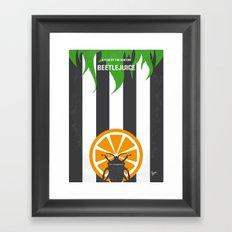 No531 My Beetle juice minimal movie poster Framed Art Print