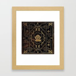 Leather and Gold Framed Art Print