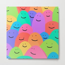 Color blobs pattern vibrant awesome cool  Metal Print