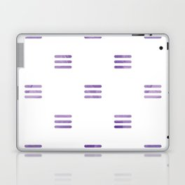Violet Purple Stripes Pattern White Backgrund Laptop & iPad Skin