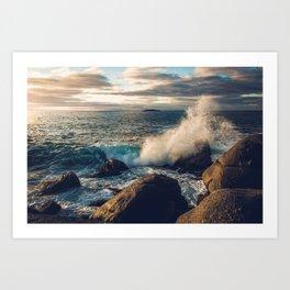 Perfect Wavebreak Art Print