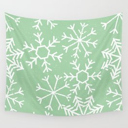 Contemporary Snowflakes Christmas Winter Pattern Wall Tapestry