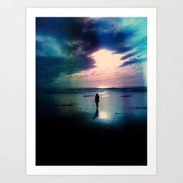 A Walk on the Beach Art Print