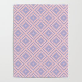 Starry Tiles in Rose Quartz and Serenity Poster