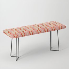 Uende Love - Geometric and bold retro shapes Bench